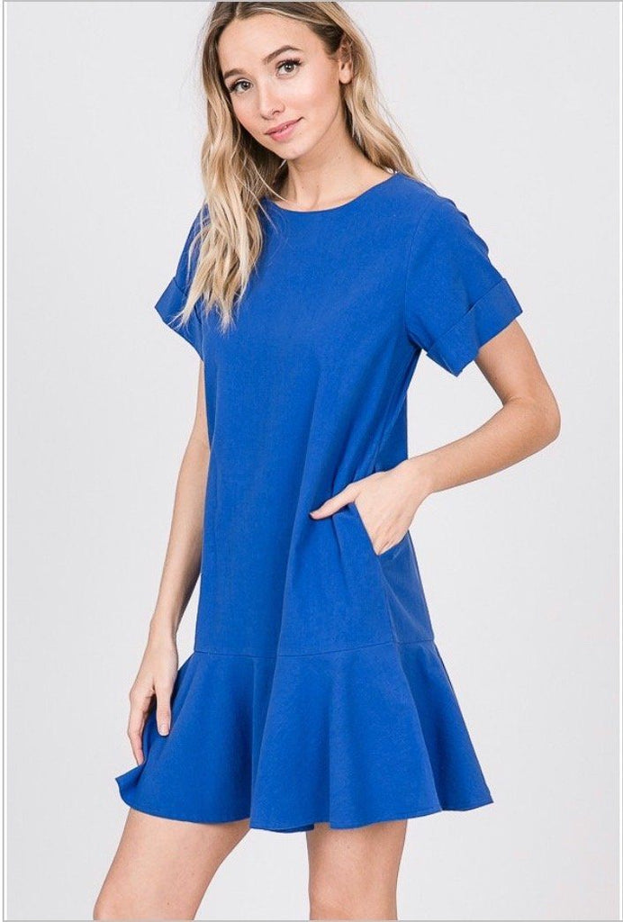 She's a Flirt Dress: Royal Blue - Bella and Bloom Boutique