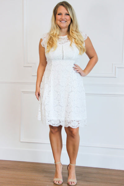 Lovely Lace Dress: White - Bella and Bloom Boutique