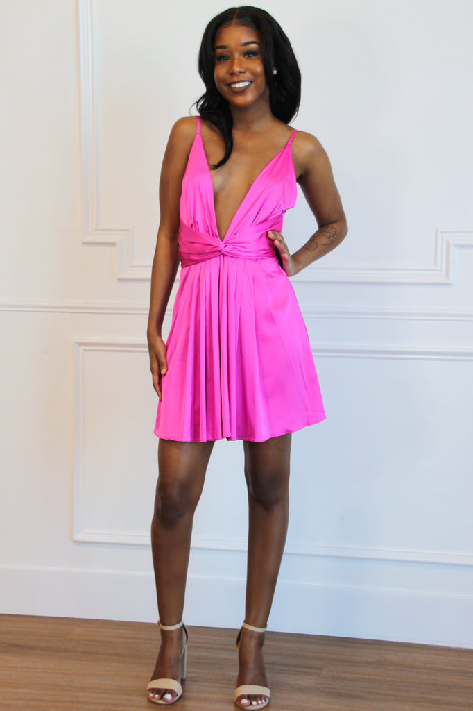 In Any Event Dress: Magenta - Bella and Bloom Boutique