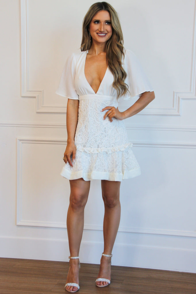 Sweet Bride Lace Dress: Ivory - Bella and Bloom Boutique