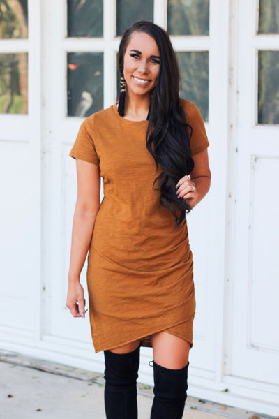 Settle Down Dress: Amber - Bella and Bloom Boutique