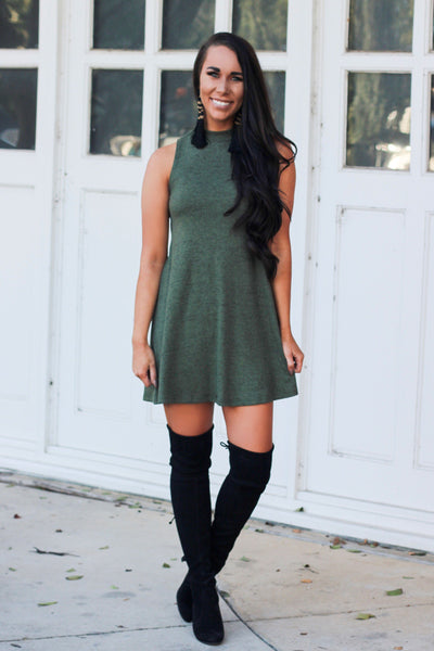 Fall Essential Dress: Olive - Bella and Bloom Boutique