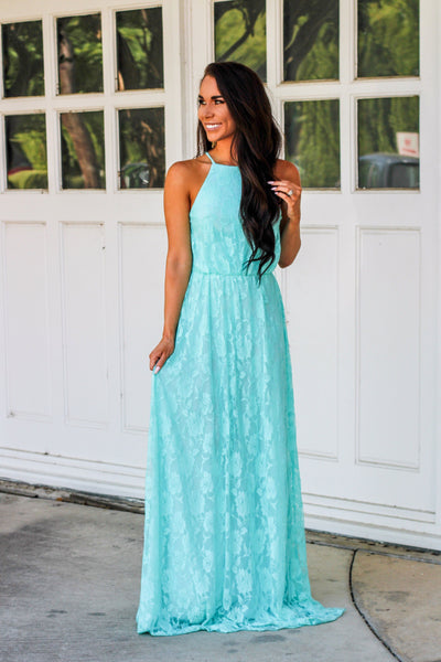 Just Like Heaven Maxi Dress: Light Blue - Bella and Bloom Boutique