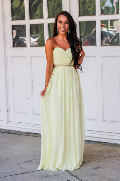 Wedding Party Dress: Yellow - Bella and Bloom Boutique
