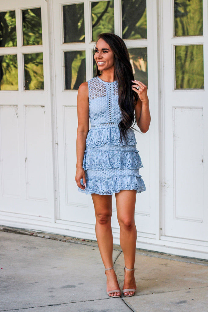 From This Moment Dress: Periwinkle