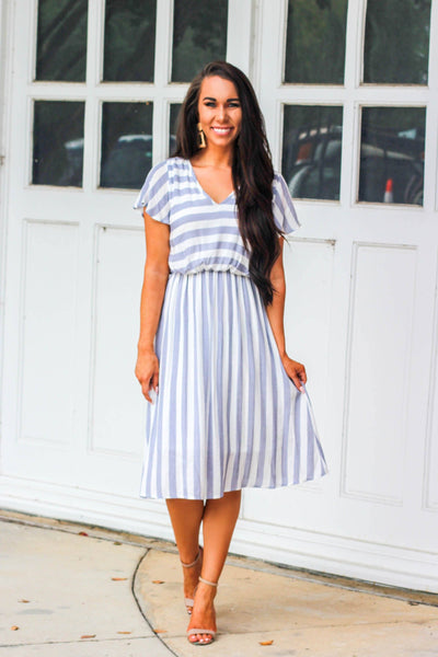 Classic Cutie Dress: Navy/White - Bella and Bloom Boutique