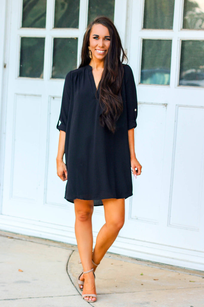 Business Essential Dress: Black - Bella and Bloom Boutique