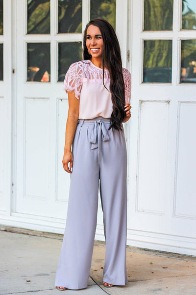 Bow Getter Pants: Gray