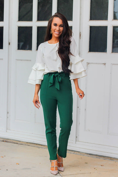 No Doubt About It Pants: Emerald