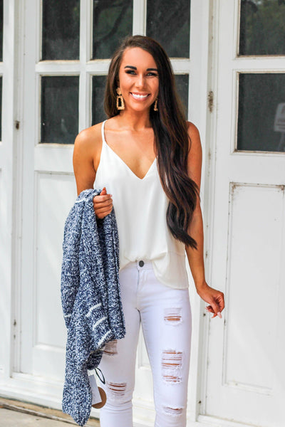 Comes Back Around Cami: White - Bella and Bloom Boutique