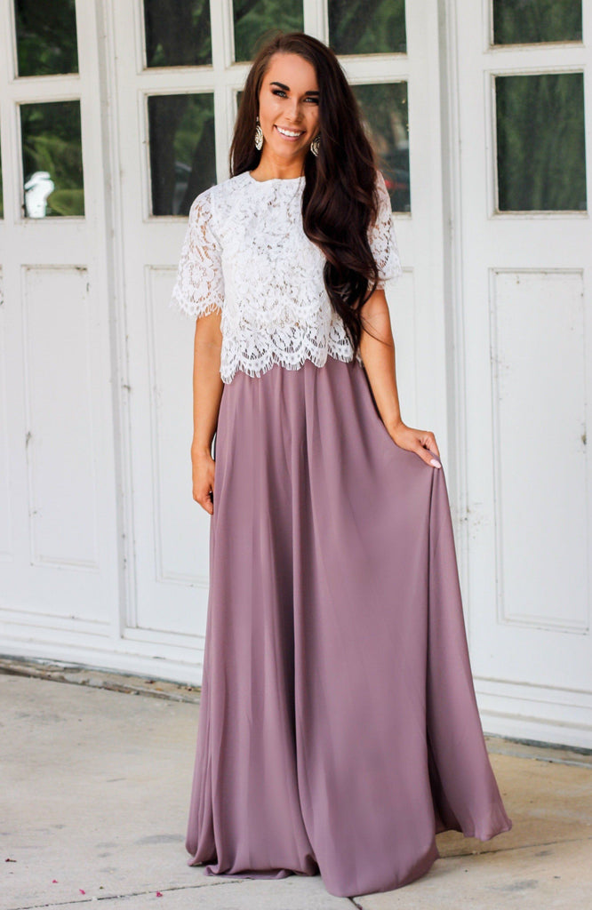RESTOCK: Sweet Romance Maxi Skirt: Mauve - Bella and Bloom Boutique