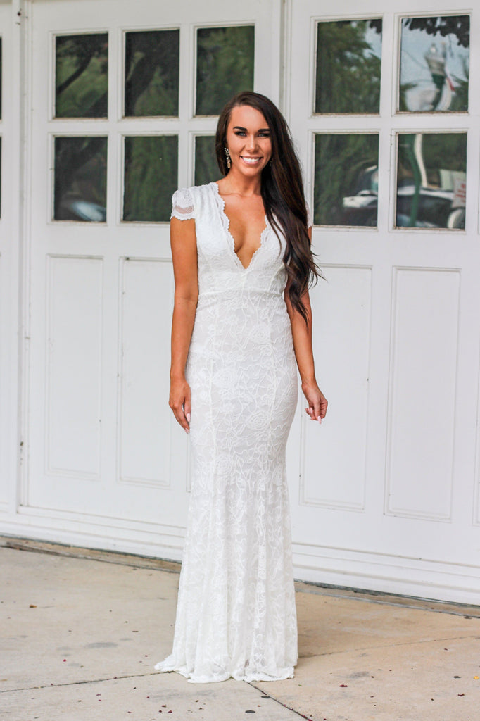 Happily Ever After Maxi Dress: White