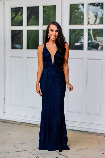 RESTOCK: Forever With You Maxi Dress: Navy - Bella and Bloom Boutique