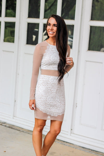 RESTOCK: Pop The Champagne Dress: White - Bella and Bloom Boutique