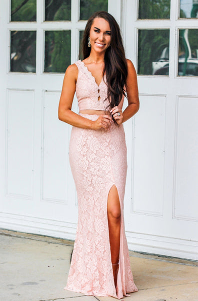 Overwhelming Love Maxi Dress: Blush - Bella and Bloom Boutique
