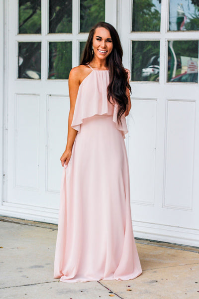 Love is in the Air Maxi Dress: Blush - Bella and Bloom Boutique