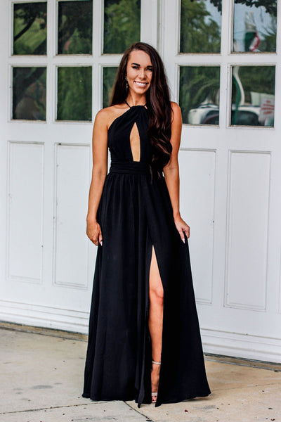 RESTOCK: A Formal Affair Dress: Black - Bella and Bloom Boutique