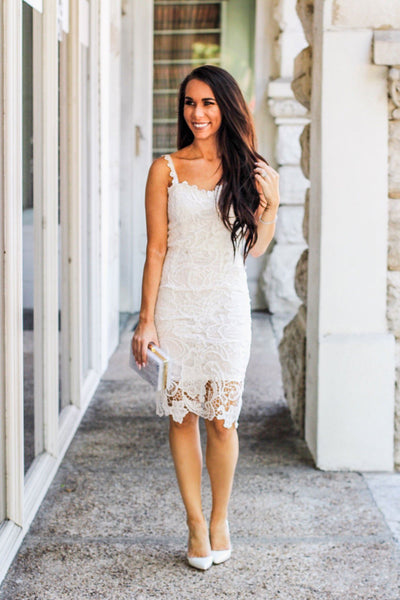 RESTOCK: Stole My Heart Dress: White