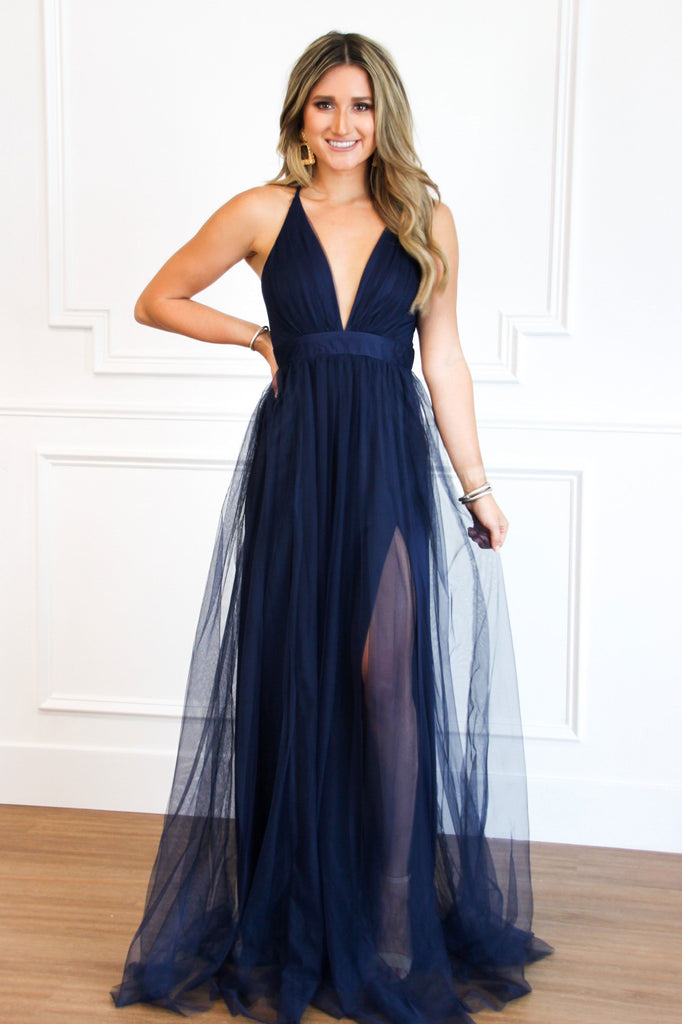 RESTOCK: Forever Love Maxi Dress: Navy - Bella and Bloom Boutique