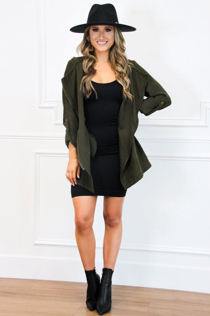 Season's Changin' Jacket: Olive - Bella and Bloom Boutique