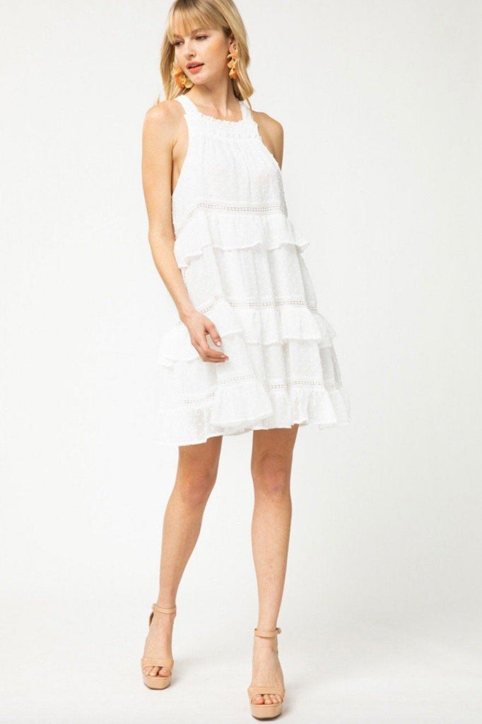 RESTOCK: Sweet Melody Swiss Dot Dress: White - Bella and Bloom Boutique