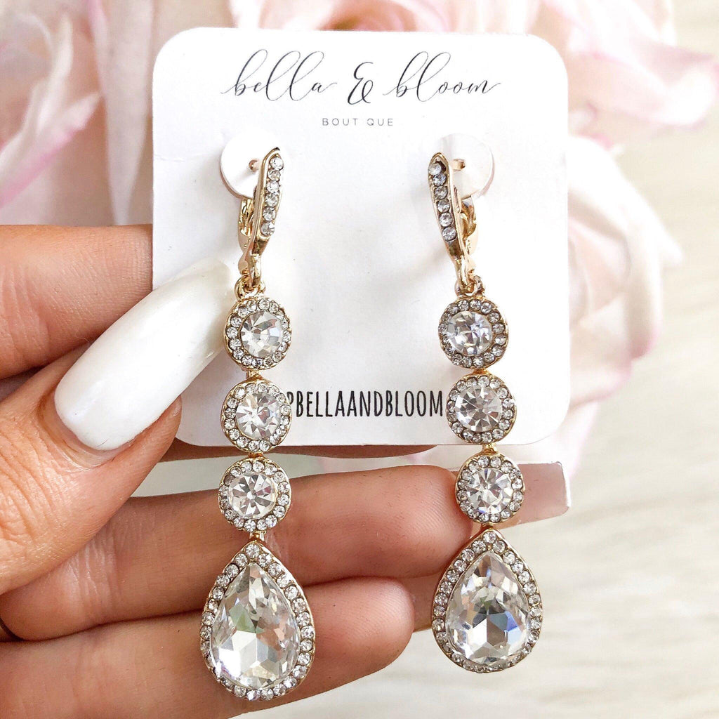 Abundant Love Earrings: Gold - Bella and Bloom Boutique