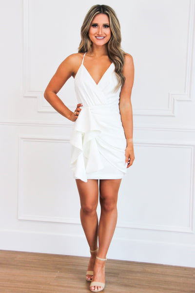 One in a Million Dress: White - Bella and Bloom Boutique