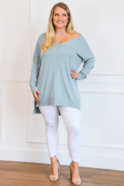 RESTOCK: Closet Essential Sweater: Sage - Bella and Bloom Boutique
