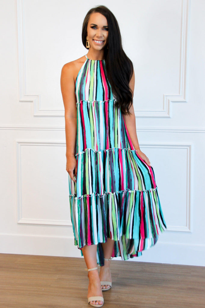 Brighten Your Day Maxi Dress: Multi - Bella and Bloom Boutique