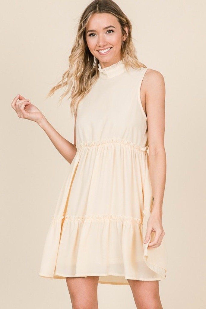 Stella Dress: Cream - Bella and Bloom Boutique