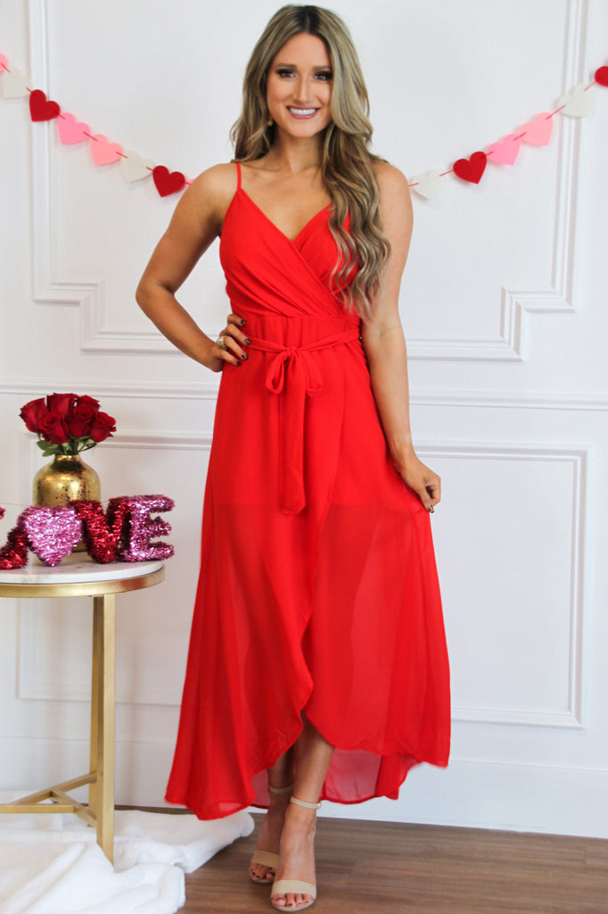 Want it That Way Maxi: Red - Bella and Bloom Boutique