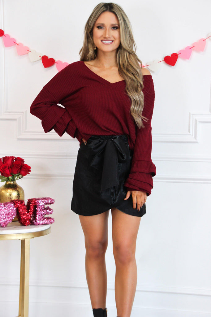 Holiday Bow Mini Skirt: Black - Bella and Bloom Boutique