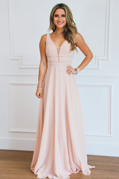 Enchanted Nights Maxi Dress: Blush - Bella and Bloom Boutique