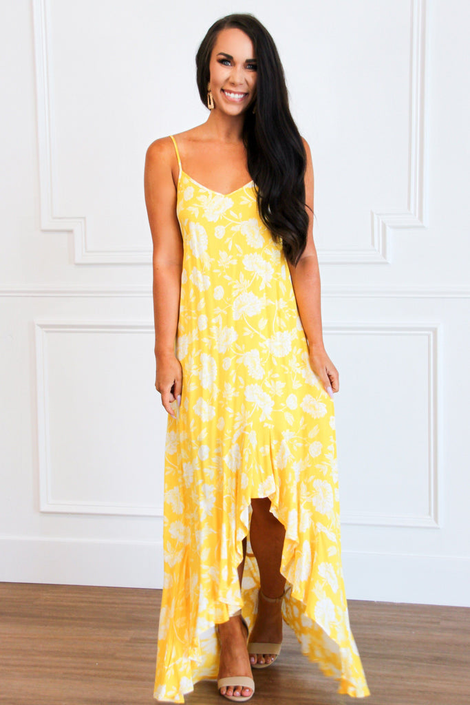 Sunny Days Maxi Dress: Yellow - Bella and Bloom Boutique