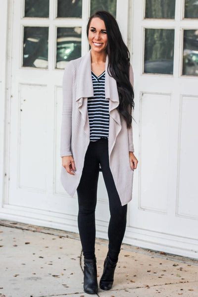 This is It Cardigan: Gray - Bella and Bloom Boutique