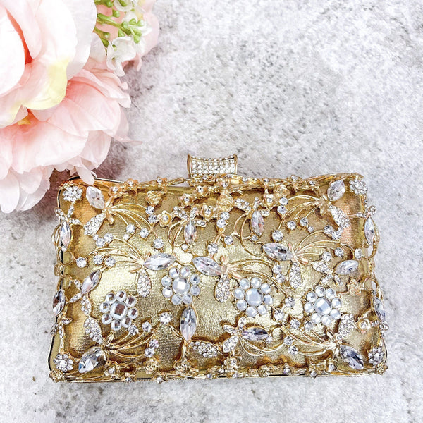 Regal Beauty Evening Clutch: Gold - Bella and Bloom Boutique