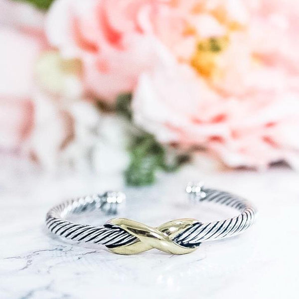 RESTOCK: If This Is Love Cuff: Silver/Gold