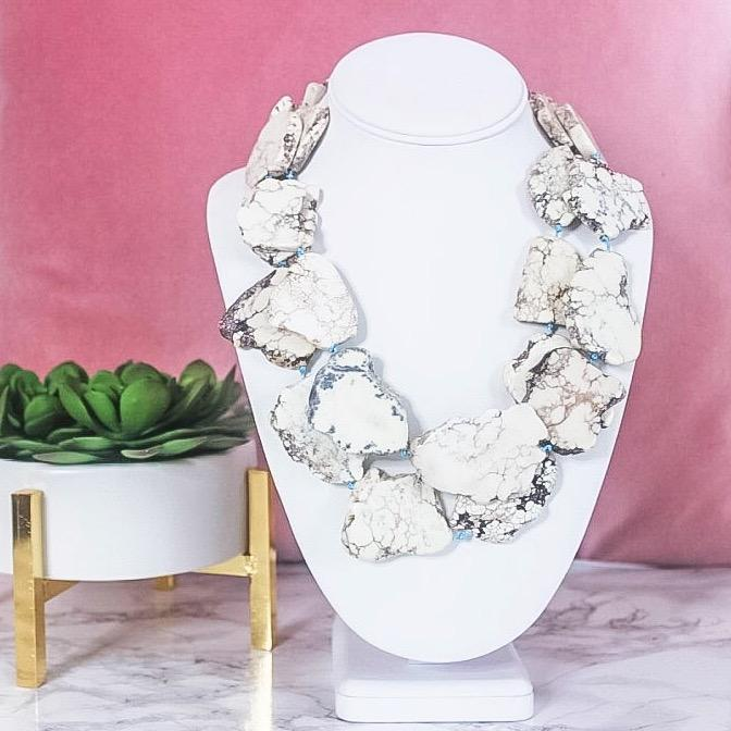 RESTOCK: Southern Sweetie Necklace: White Howlite