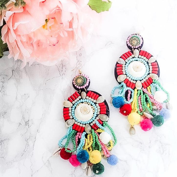Bahama Mama Earrings: Multi - Bella and Bloom Boutique
