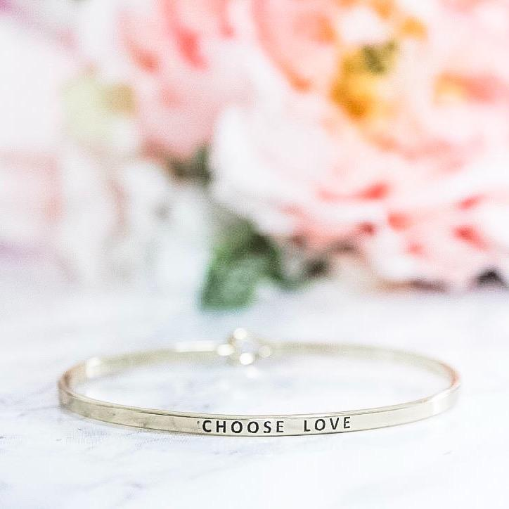 Voice of Truth Cuff: Choose Love, Gold