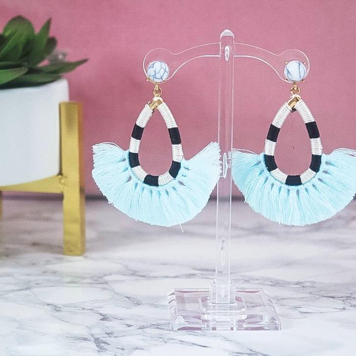 Call It What You Want Earrings: Light Blue - Bella and Bloom Boutique