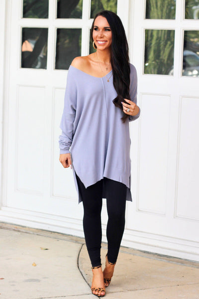 Closet Essential Sweater: Lavender - Bella and Bloom Boutique