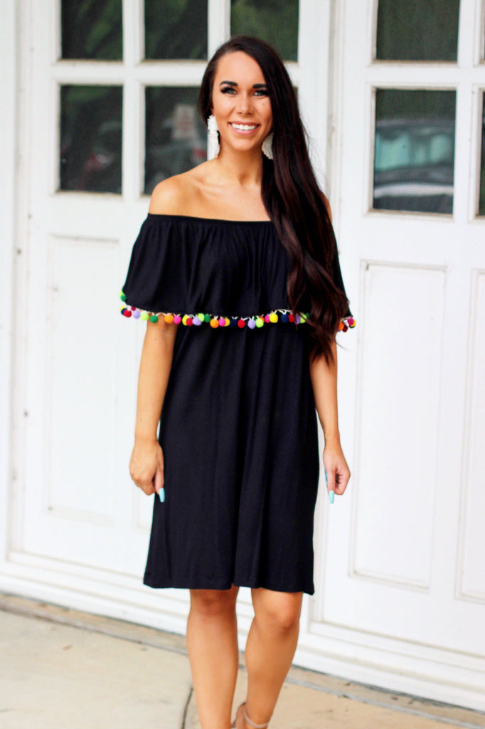 Beach Vacay Dress: Black - Bella and Bloom Boutique