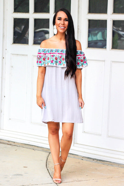 Acapulco Dress: Silver - Bella and Bloom Boutique