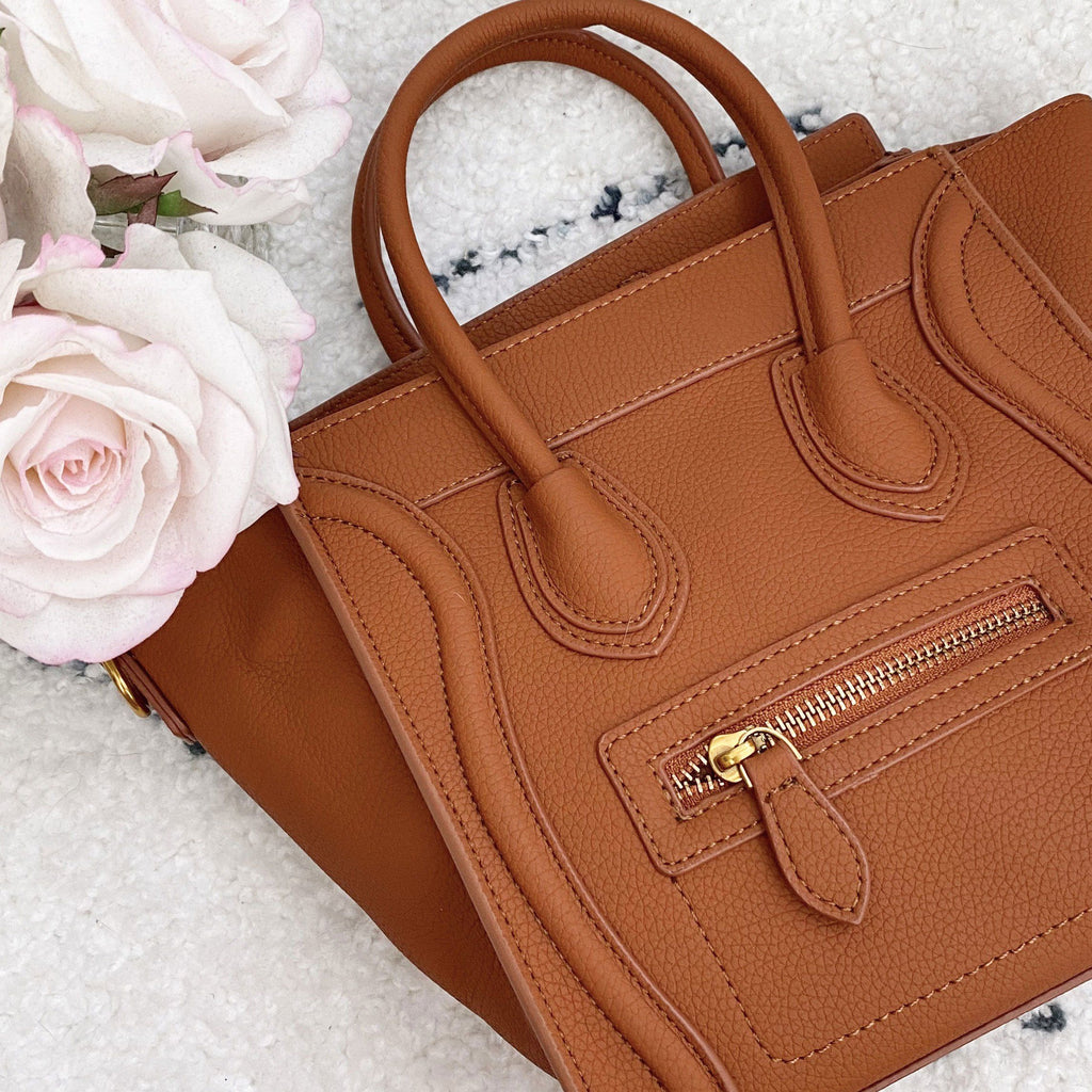 Chloe Crossbody Bag: Cognac - Bella and Bloom Boutique
