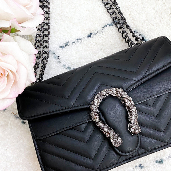 Luna Crossbody Bag: Black - Bella and Bloom Boutique