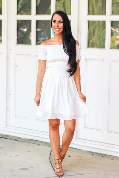 High Heavens Dress: White - Bella and Bloom Boutique