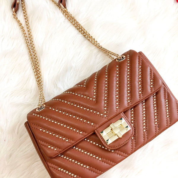 Eliana Bag: Cognac - Bella and Bloom Boutique