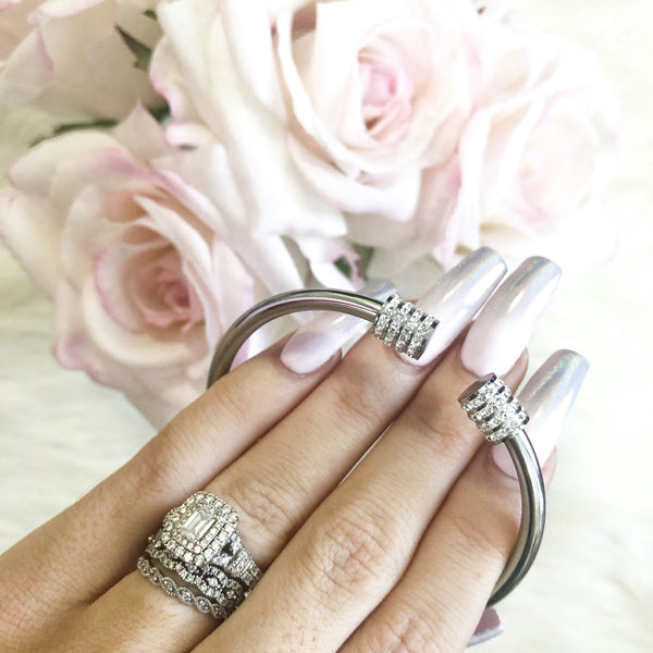 Two is Better Than One Bangle: Silver - Bella and Bloom Boutique