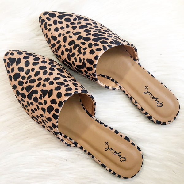 RESTOCK: Whitley Slides: Leopard - Bella and Bloom Boutique